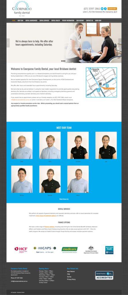Website Coorparoo Dental