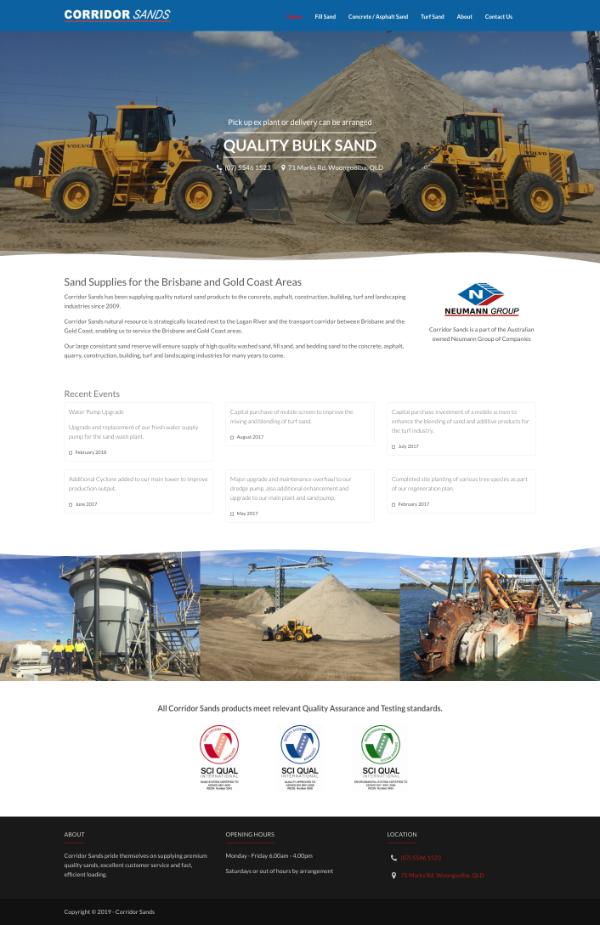 Website Corridor Sands