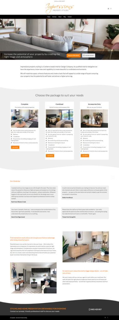 Website Impressions Property Styling