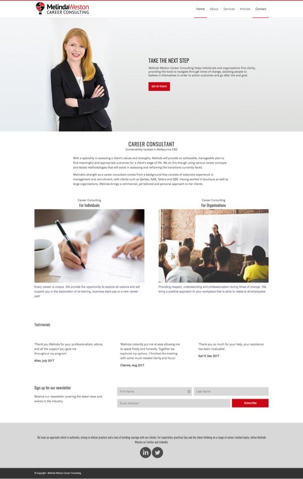 Website Melinda Weston