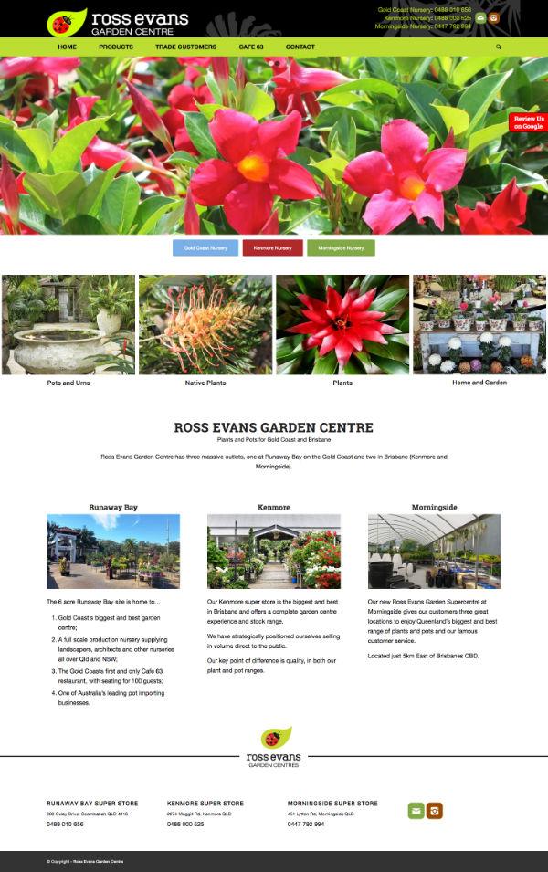 Website Ross Evans Garden Centre