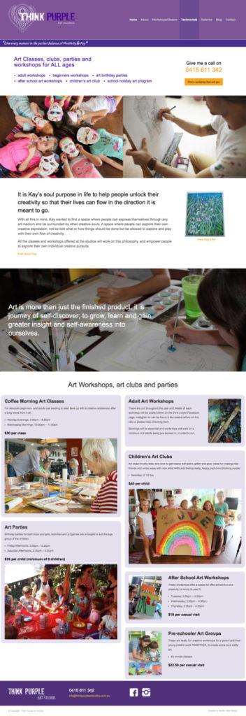 Website Think Purple Art Studios