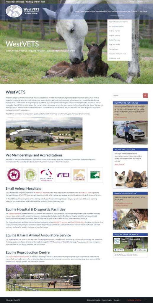 Website Westvets